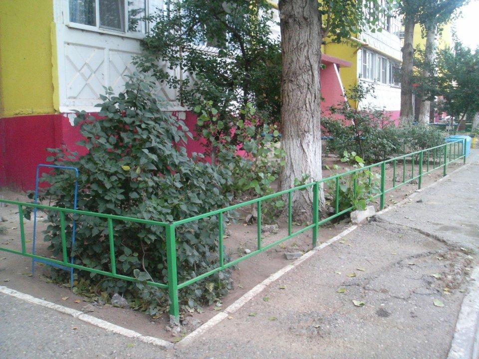 Забор во дворе фото